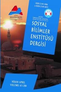 Ağrı İbrahim Çeçen Üniversitesi Sosyal Bilimler Enstitüsü Dergisi